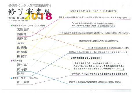 嵯峨美術大学大学院芸術研究科 修了審査展2018