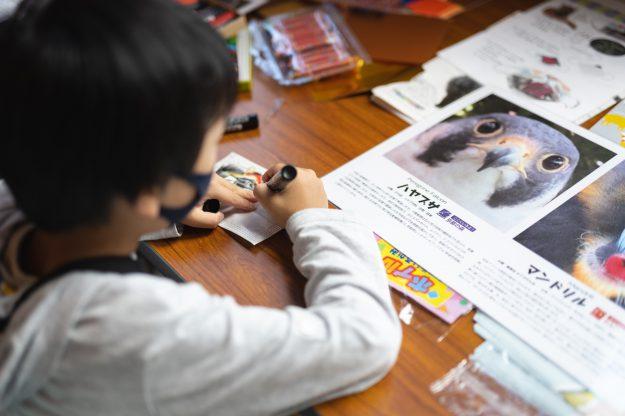 8/14・15 芸術学部デザイン学科の池田泰子教授と在学生がロームシアター京都でワークショップ「どうぶつマスクプロジェクト」を実施しました。3