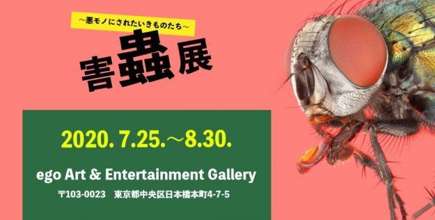 卒業生藤原正和さんが「害蟲展〜悪モノにされたいきものたち〜」( 7/25~8/30)で優秀賞を受賞され、東京・ego Art & Entertanment Galleryで作品が展示されます。1