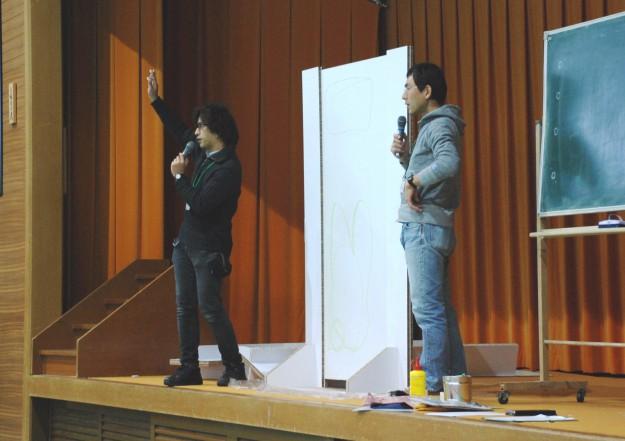 """11月19日(日)京都西南ロータリークラブ 創立45周年記念事業""""現代アートにふれる 「どこにでもドア」を作ろう!""""を実施しました。:0"""
