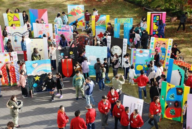 """11月19日(日)京都西南ロータリークラブ 創立45周年記念事業""""現代アートにふれる 「どこにでもドア」を作ろう!""""を実施しました。:11"""