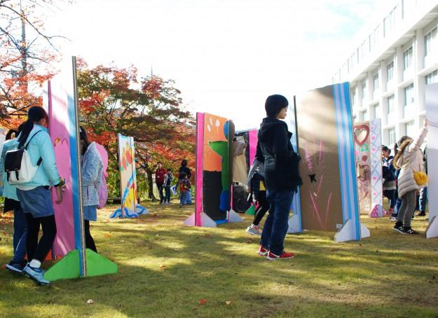 """11月19日(日)京都西南ロータリークラブ 創立45周年記念事業""""現代アートにふれる 「どこにでもドア」を作ろう!""""を実施しました。:9"""