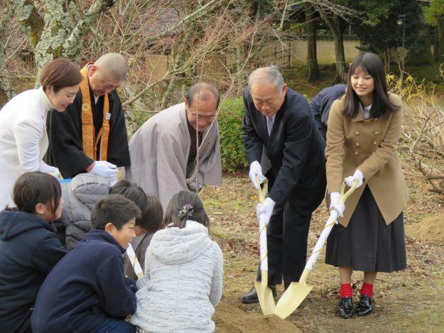 福島の桜が大覚寺に植樹されました!:1