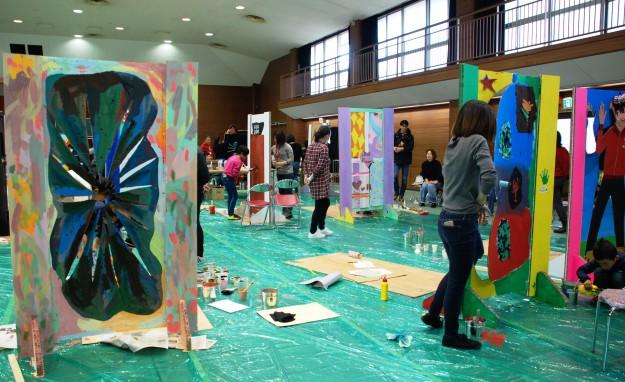 """11月19日(日)京都西南ロータリークラブ 創立45周年記念事業""""現代アートにふれる 「どこにでもドア」を作ろう!""""を実施しました。:4"""
